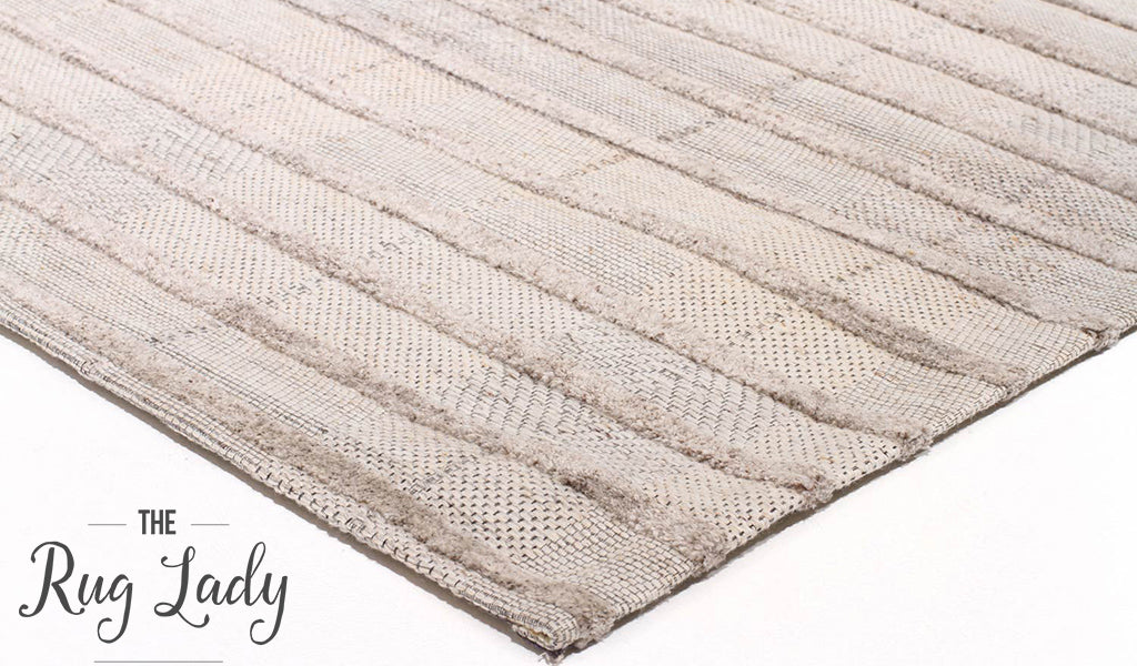 Visage Grey Stripe Pattern Rug
