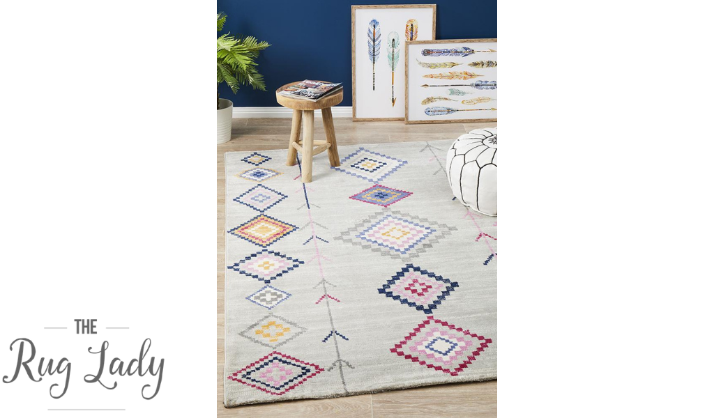 Tanzi Grey Geometric Tribal Rug