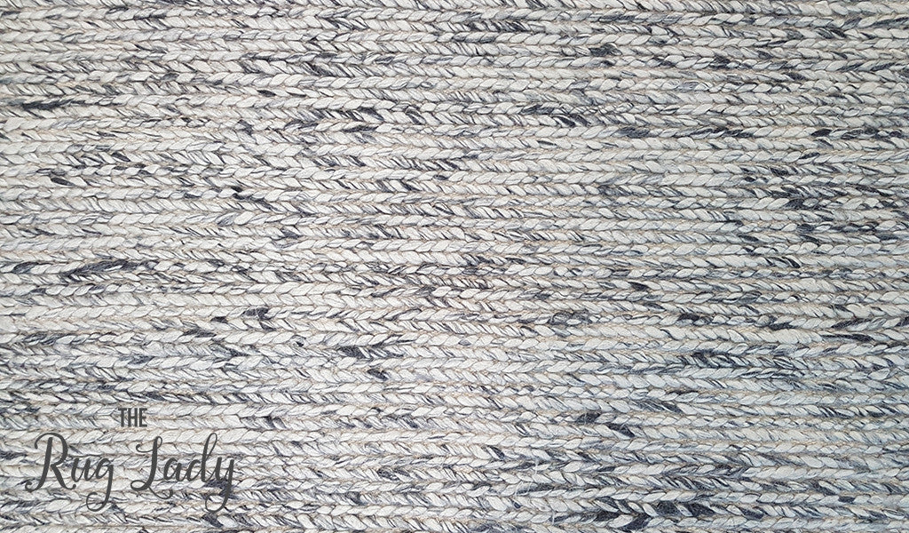 Essence Astrid Braided Weave Grey Felted Wool Rug