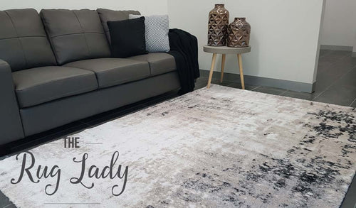 Contemporary Beige Grey Abstract Pattern Rug