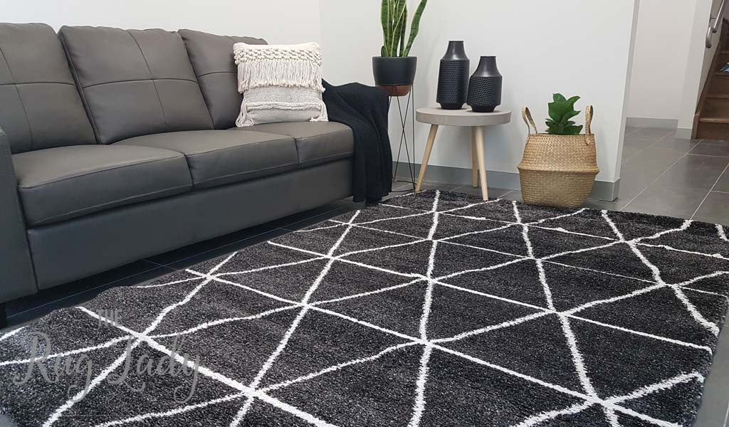 Hunter Plush Charcoal Tribal Rug