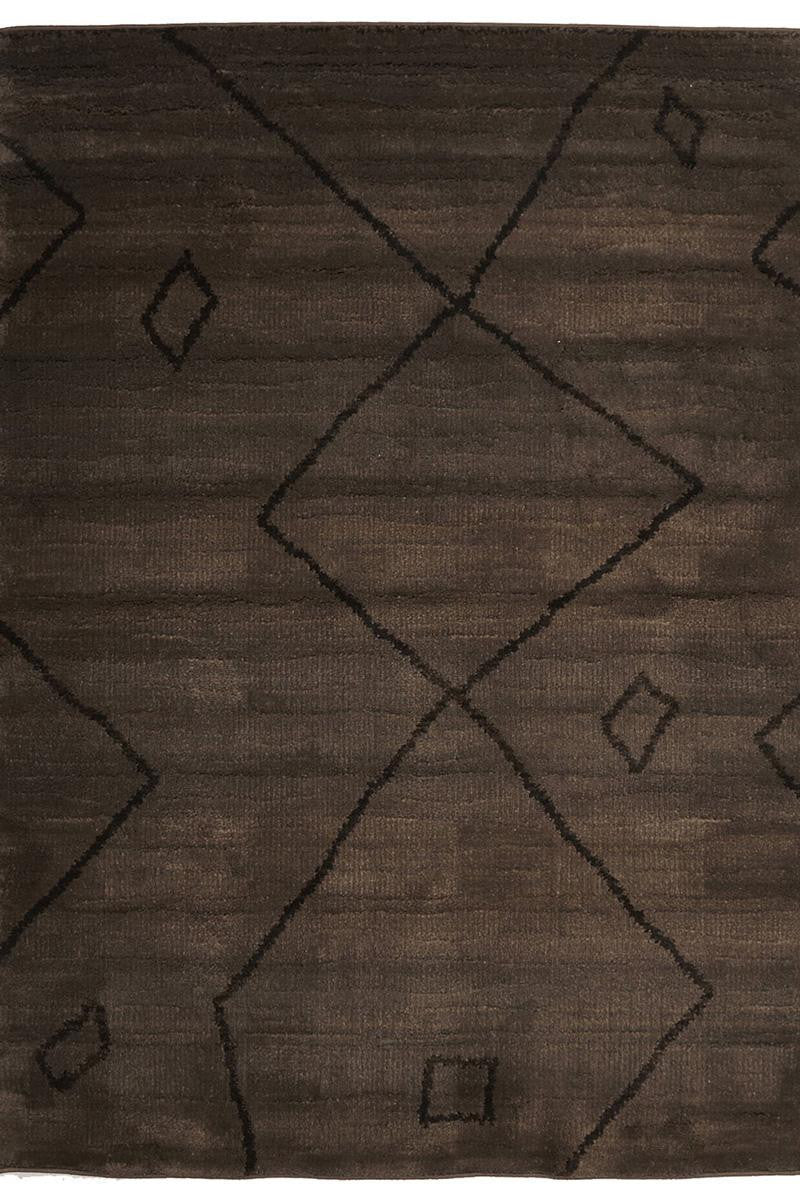 Marrakesh Brown Tribal Patterned Rug