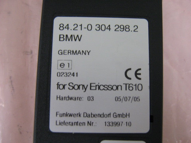 BMW Snap in adapter Sony Ericsson T610