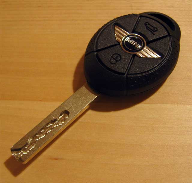 Mini Cooper Replacement Key