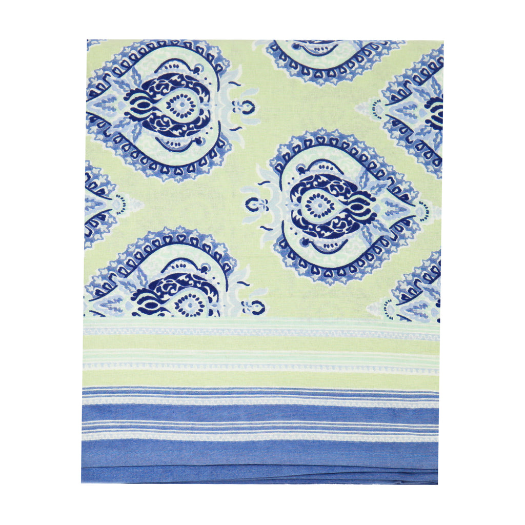Pastel Green / Cobalt Buta Tablecloth