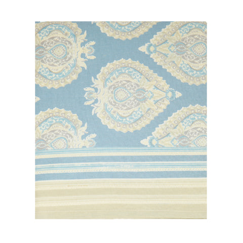 Pigeon Blue / Taupe Buta Tablecloth