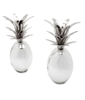 Nickel Pineapple Candlestick ~ Pair
