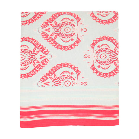 Eau de Nil / Raspberry Buta Tablecloth