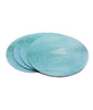 'Shagreen' Table Mats ~ Aqua ~ Set of 4