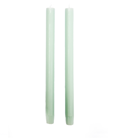 Tall Coloured Candles - Glacier Blue ~ Pair