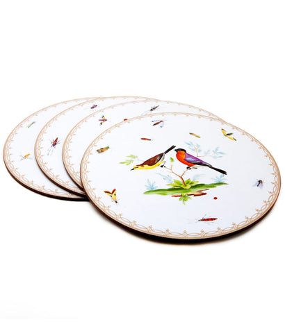 Song Bird Table Mats ~ Set of 4