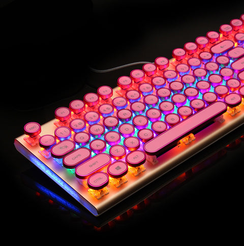 Dotech | Rose Gold Typewriter Mechanical Keyboard