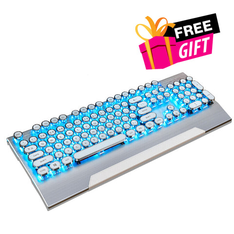 Dotech | Retro-Z Typewriter Mechanical Gaming Keyboard (White)