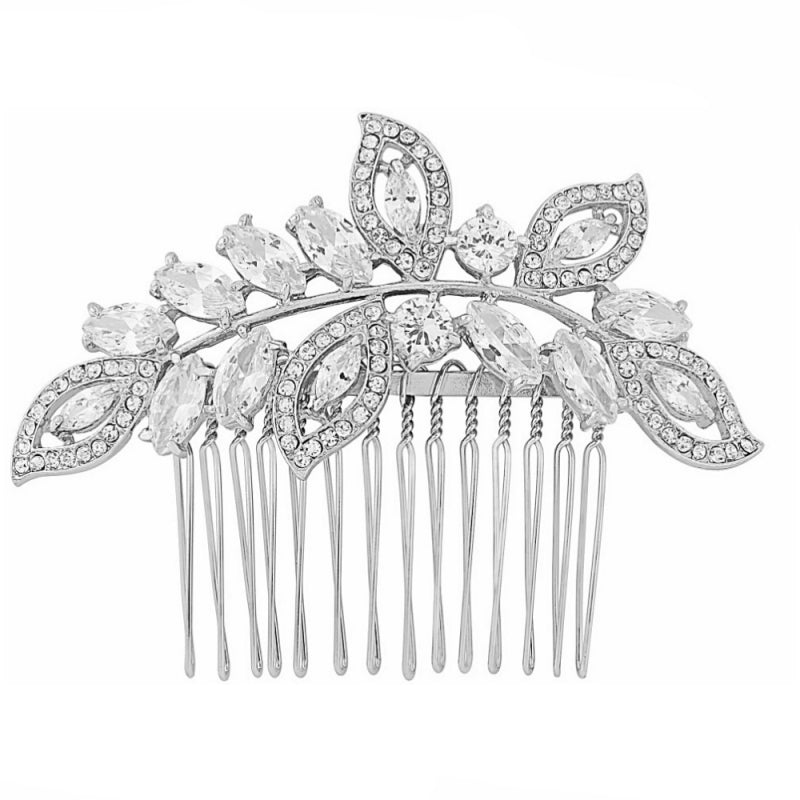 Helena gold crystal hair comb