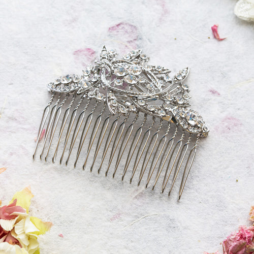 Adelaide crystal hair comb