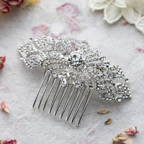 Adella crystal hair comb