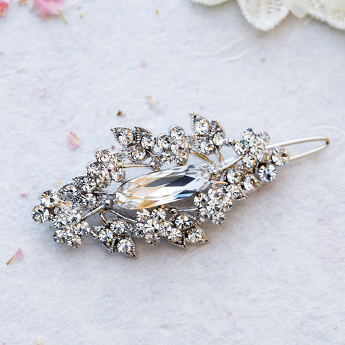 Alexa crystal hair slide