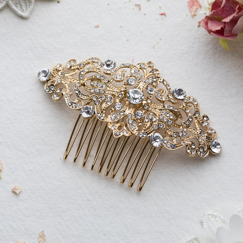 Astria gold hair comb