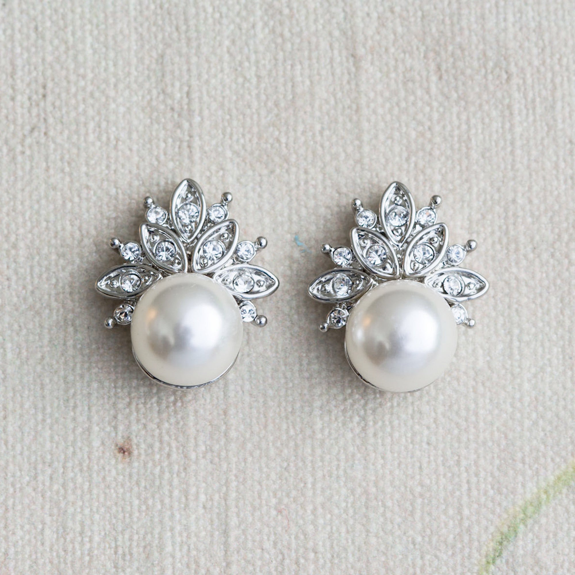 Avery crystal and pearl earrings