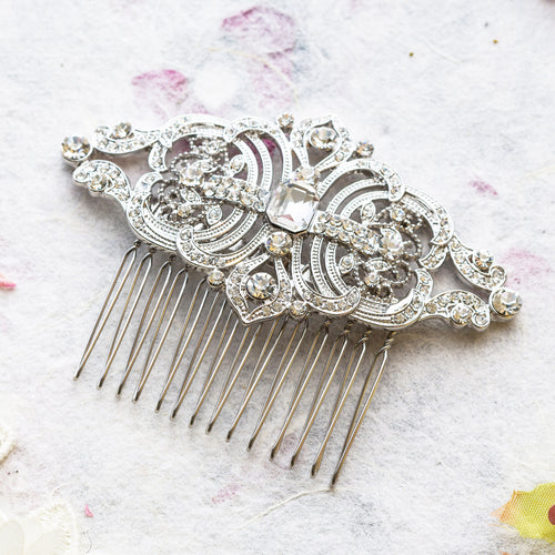 Aviva crystal hair comb