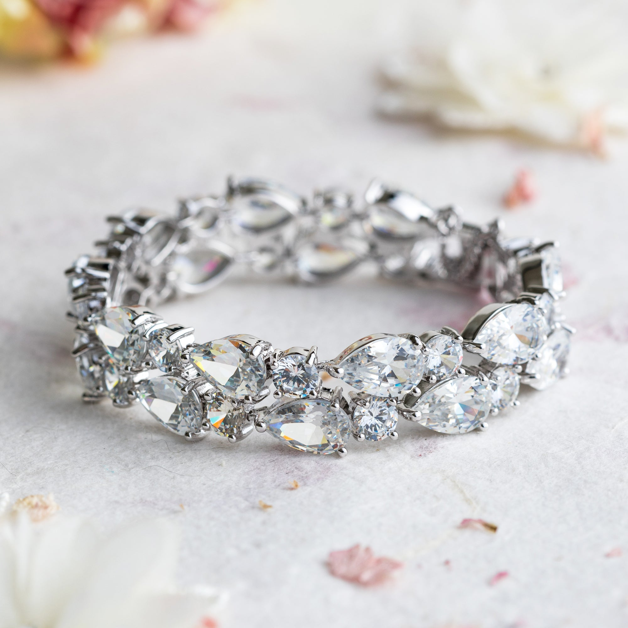 Bonita crystal and silver bracelet