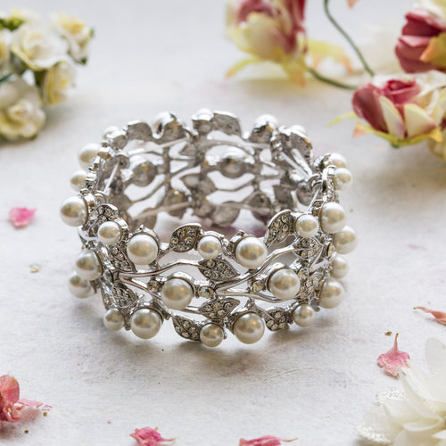Catherine pearl and crystal statement bracelet