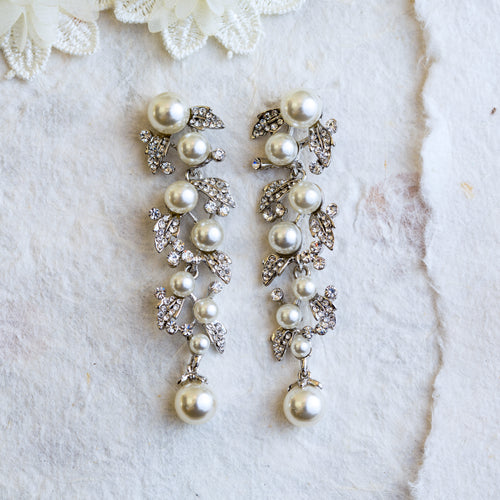 Catherine pearl statement earrings