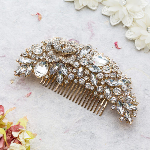 Eliza gold hair comb