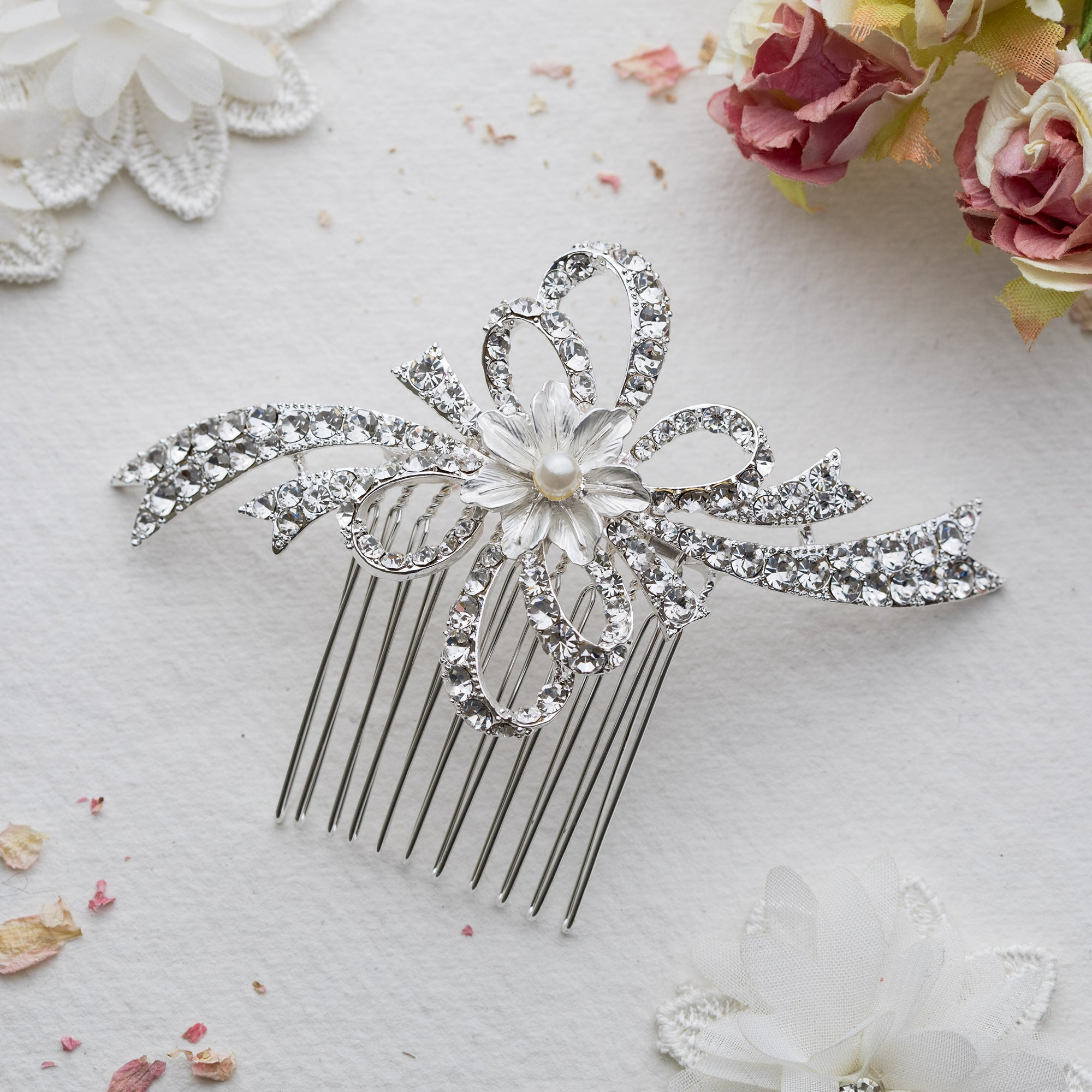 Ellie crystal hair comb