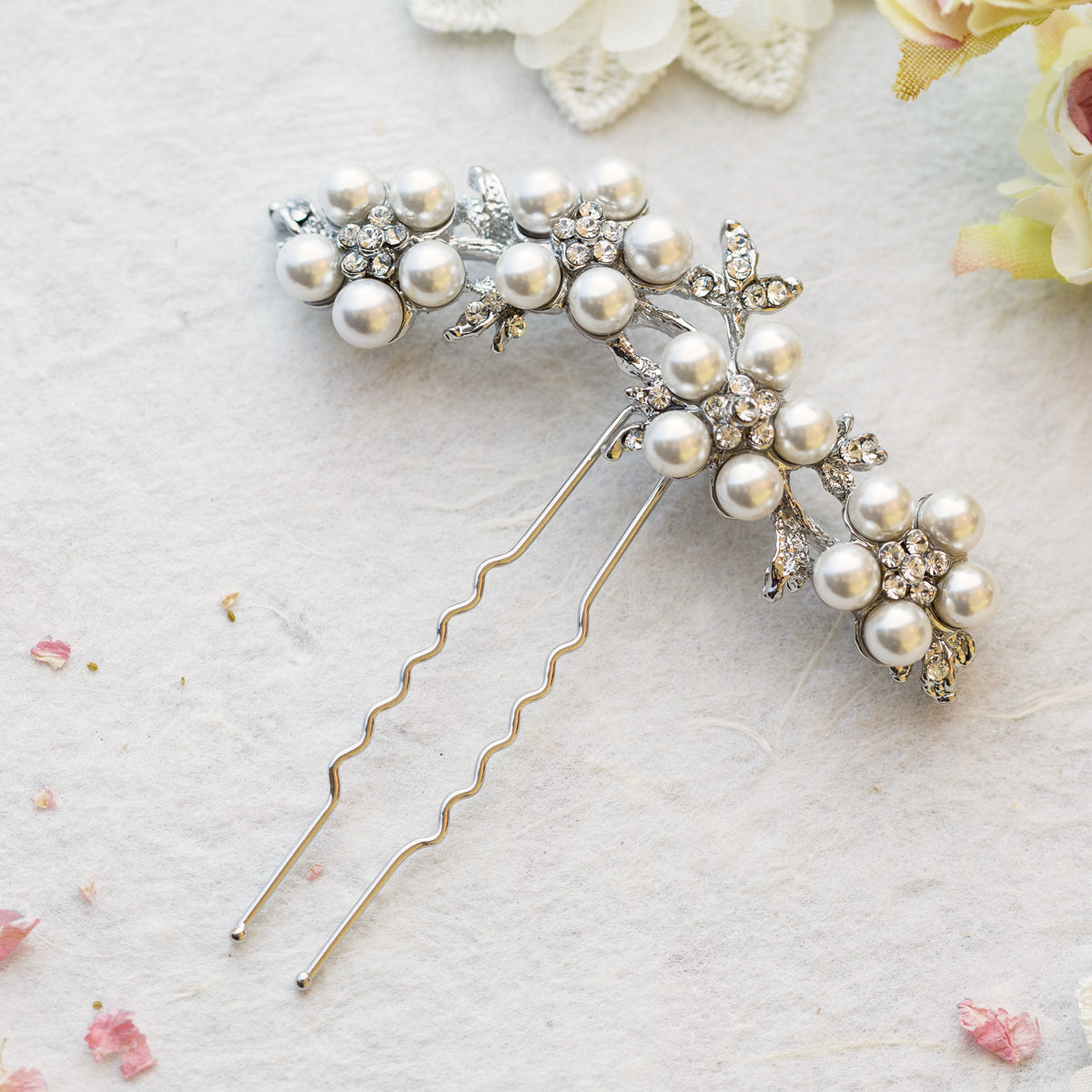 Esha crystal hair pin