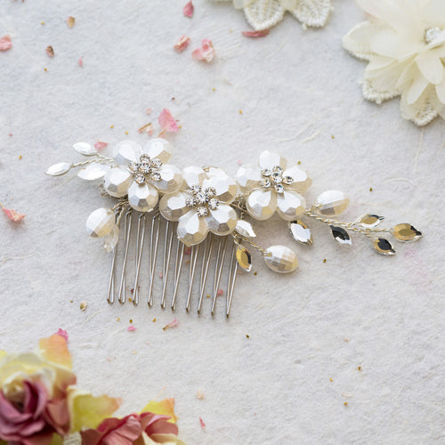 Evelina crystal hair comb