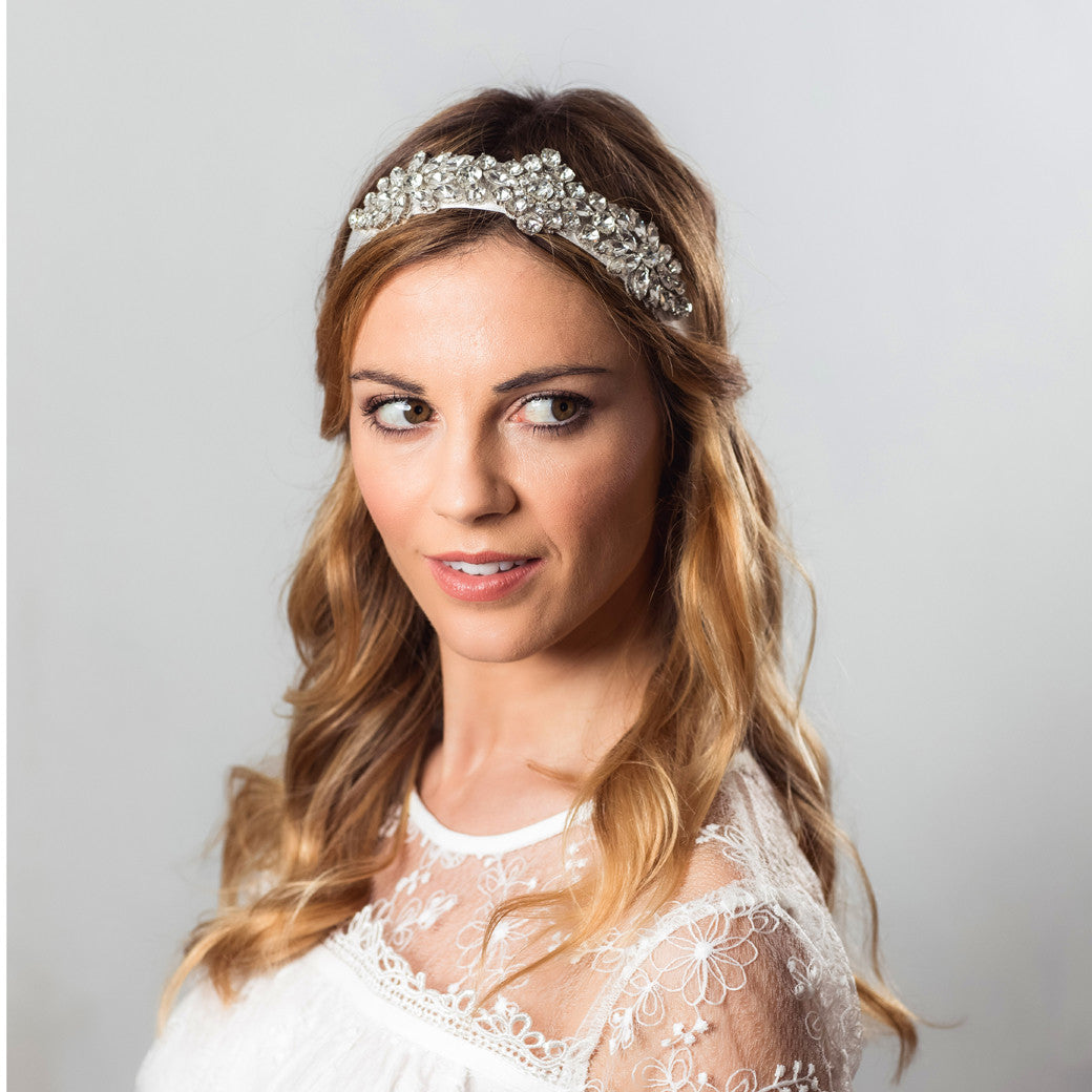 Ezra silk and crystal hairband