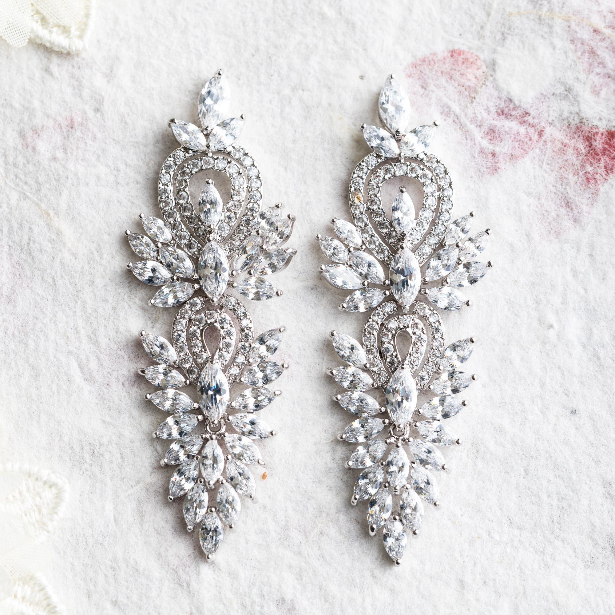 Fara crystal statement earrings