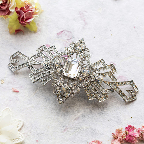 Gatsby crystal hair comb
