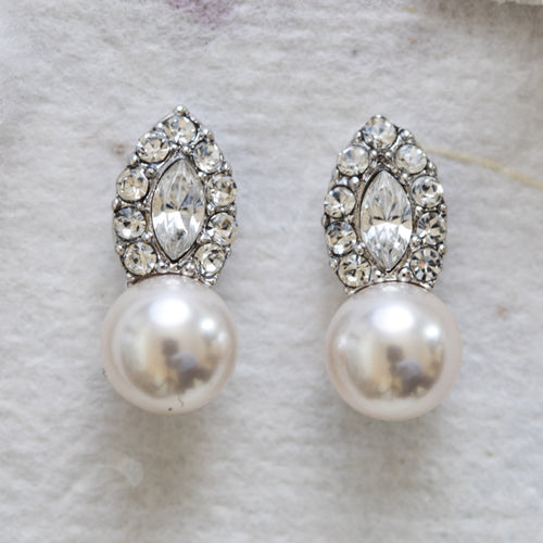 Genevieve crystal and pearl earrings