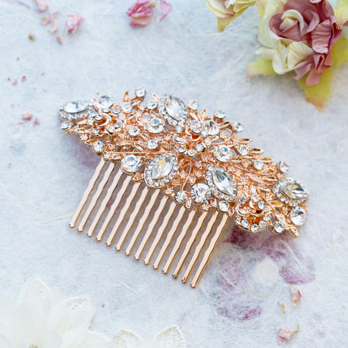 Henrietta rose gold hair comb