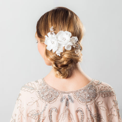 Isadora flower hair comb