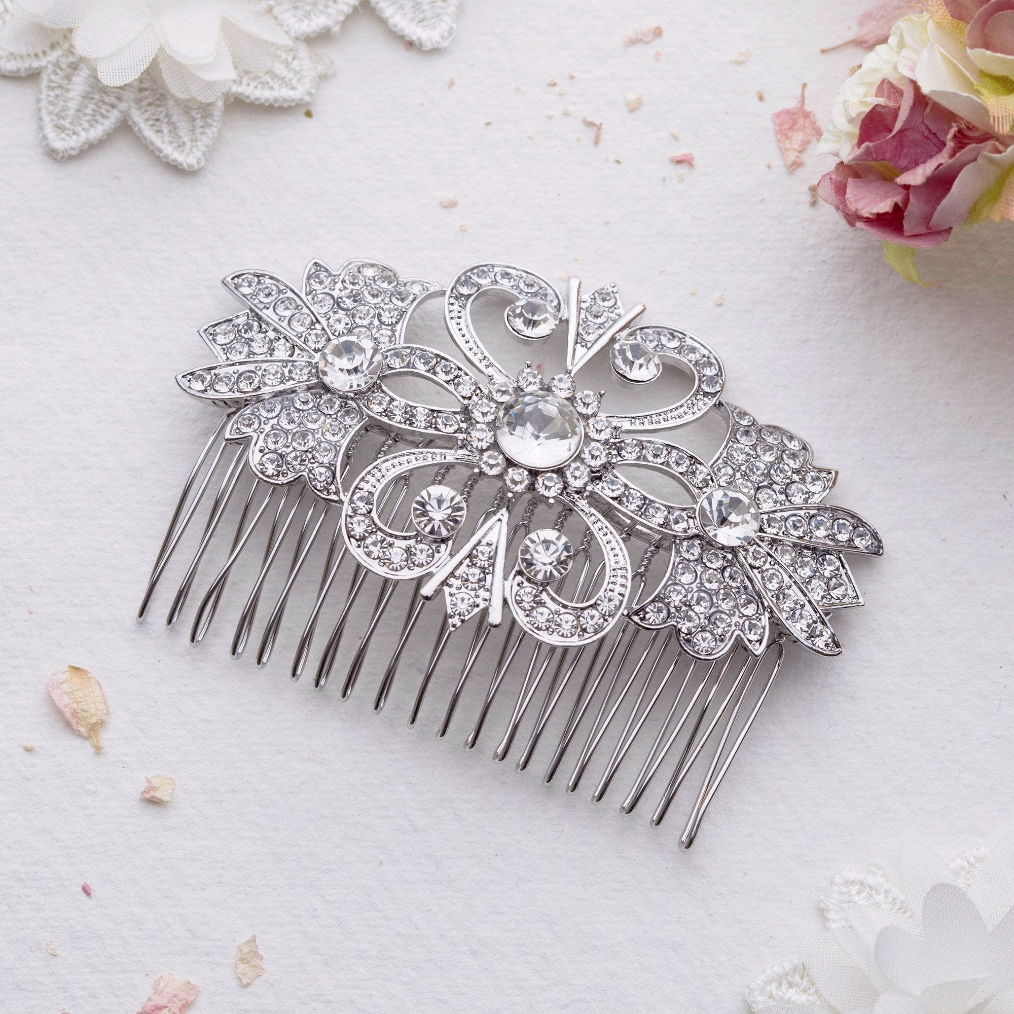 Juana crystal hair comb