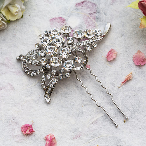June crystal hairpin