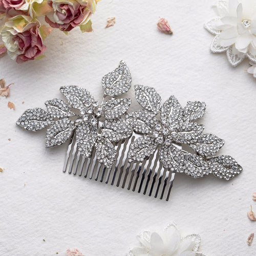 Lucia crystal hair comb