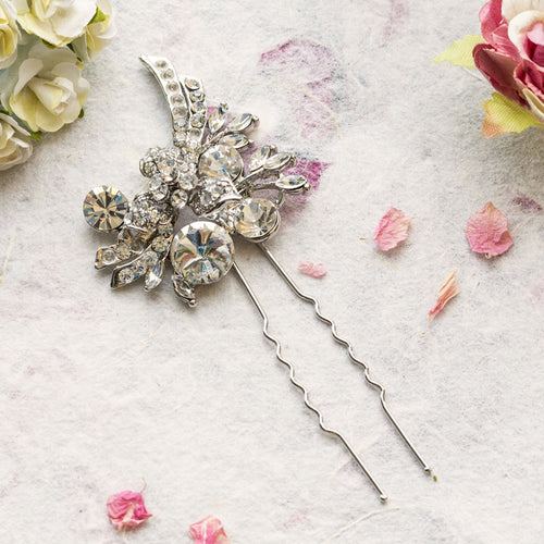 Lucy crystal hair pin