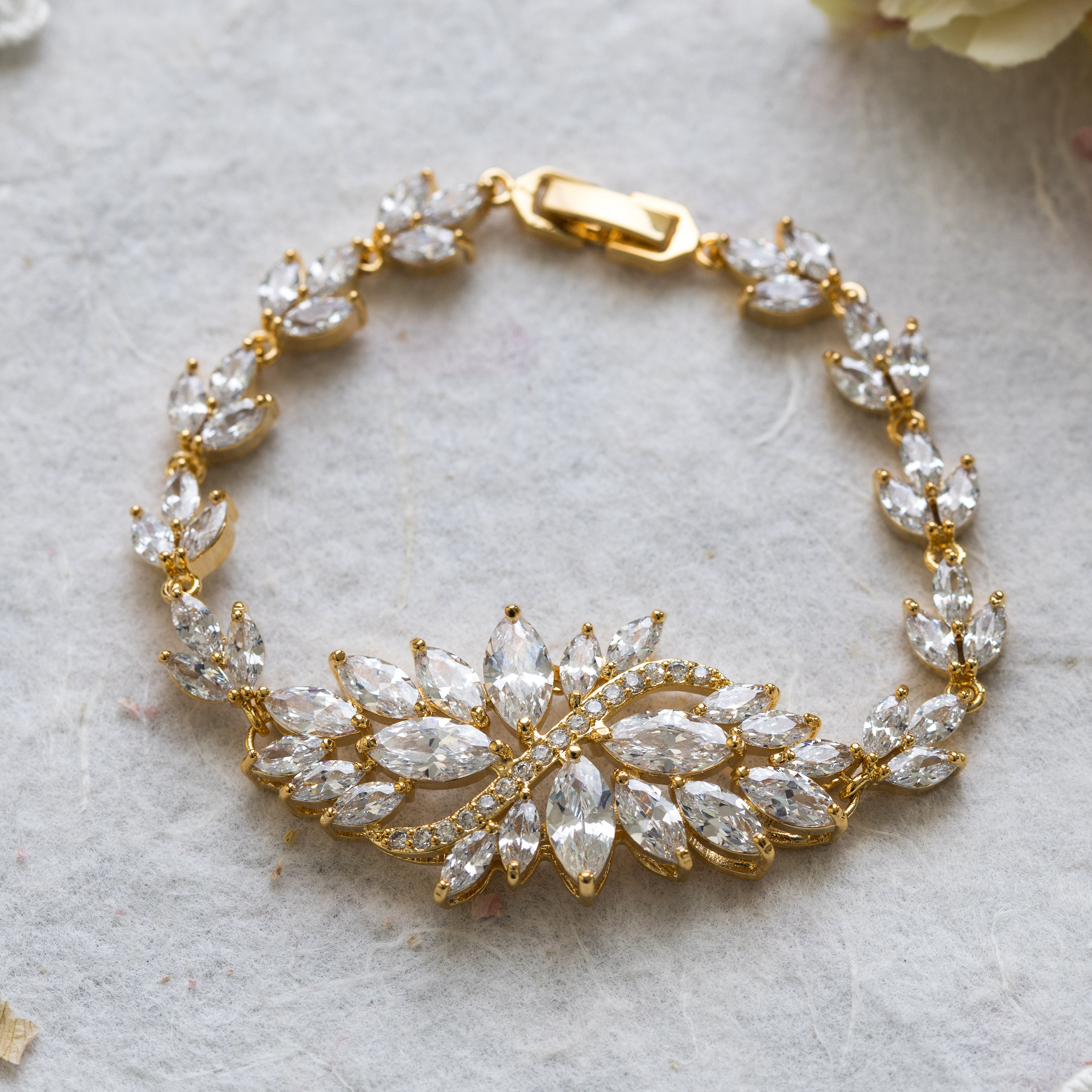 Manon gold crystal bracelet