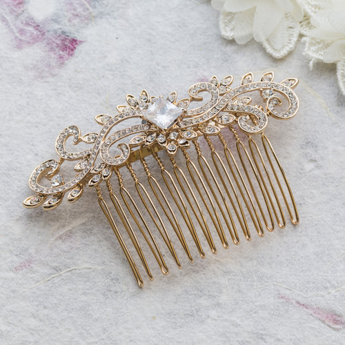Margo gold hair comb