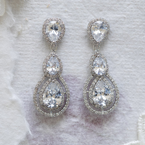 Millicent crystal drop earrings