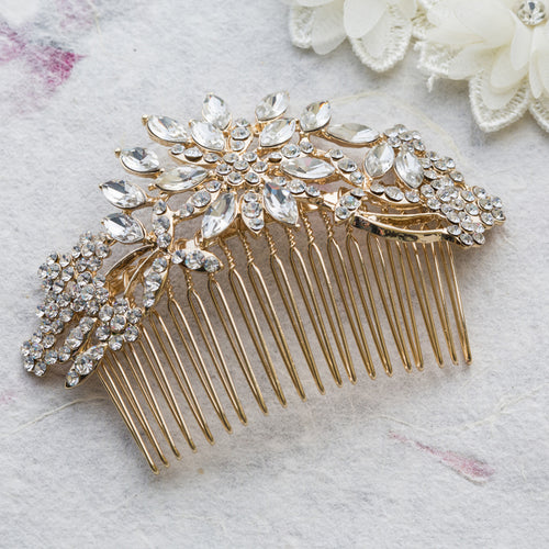 Nicole gold hair comb