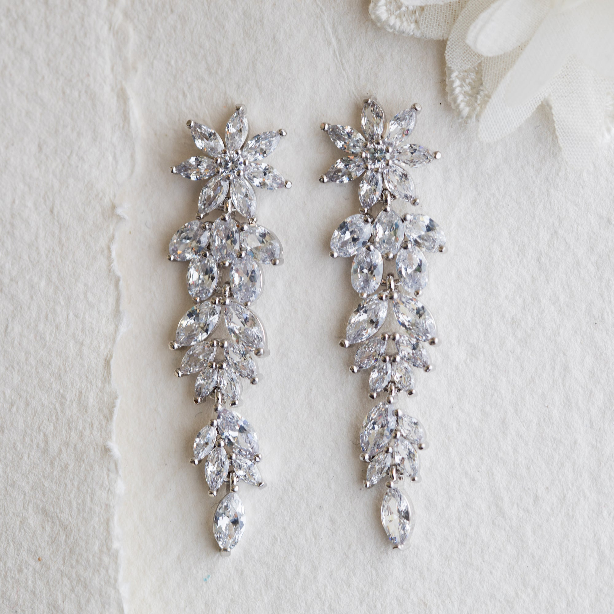 Norah crystal drop earrings