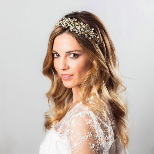 Rosalie gold crystal hairband
