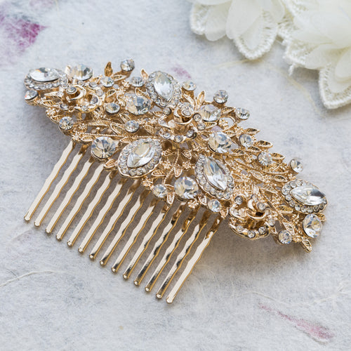 Sally gold hair comb