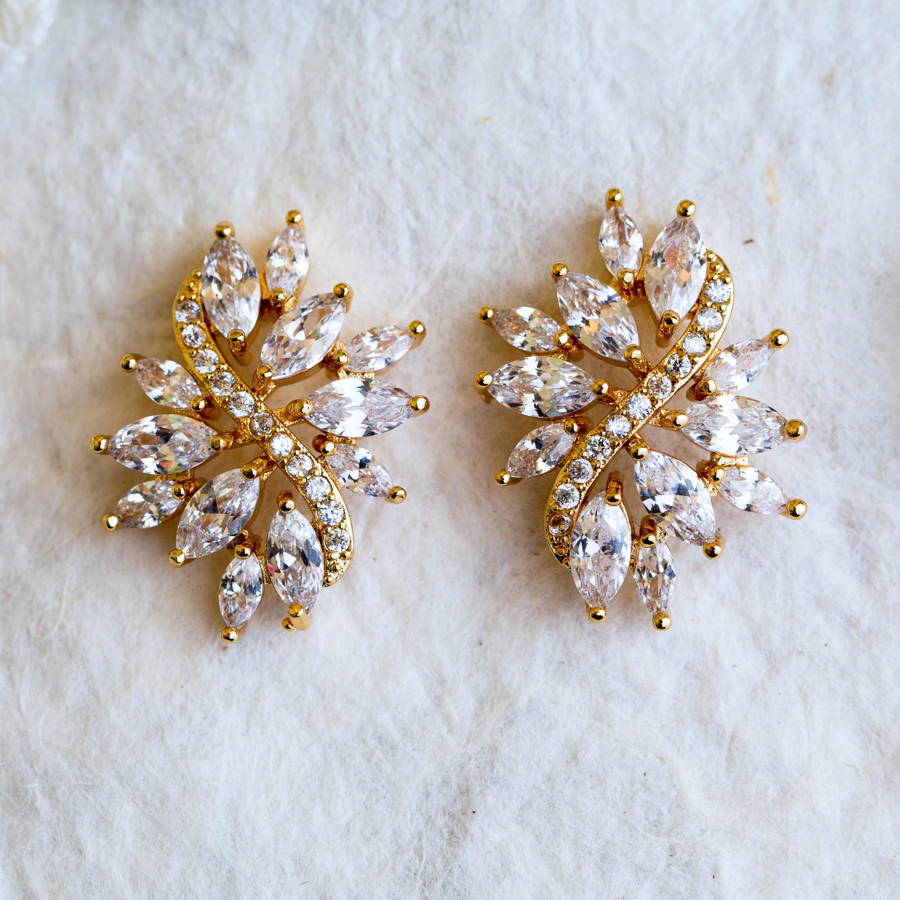 Sarah gold crystal earrings