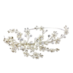 Darcey pearl and crystal hairband